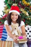 Χριστούγεννα κοριτσιών Στοκ Φωτογραφίες