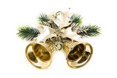 Χριστούγεννα κουδουνιών χρυσά Στοκ εικόνα με δικαίωμα ελεύθερης χρήσης