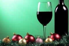 Χριστούγεννα κόκκινου κρασιού Στοκ Εικόνα