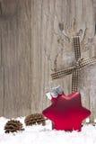 Χριστούγεννα, κόκκινο διακοσμήσεων Χριστουγέννων Στοκ Φωτογραφίες