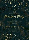 Χριστούγεννα κόμμα-02 πρόσκλησης Στοκ φωτογραφία με δικαίωμα ελεύθερης χρήσης