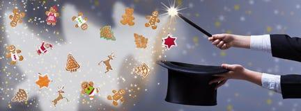 Χριστούγεννα μαγικά - για το διάστημα αντιγράφων Στοκ Φωτογραφία
