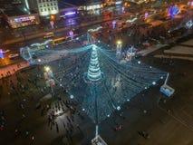 Χριστούγεννα Μινσκ, Λευκορωσία στοκ φωτογραφία με δικαίωμα ελεύθερης χρήσης