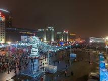 Χριστούγεννα Μινσκ, Λευκορωσία στοκ εικόνες