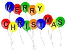 Χριστούγεννα μπαλονιών ελεύθερη απεικόνιση δικαιώματος