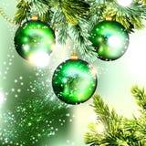 Χριστούγεννα μπιχλιμπιδιών ανασκόπησης AP cloce Στοκ φωτογραφία με δικαίωμα ελεύθερης χρήσης