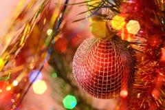 Χριστούγεννα μπιχλιμπιδιών ανασκόπησης AP cloce Στοκ εικόνα με δικαίωμα ελεύθερης χρήσης