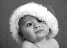 Χριστούγεννα μωρών ονειροπόλα Στοκ φωτογραφία με δικαίωμα ελεύθερης χρήσης