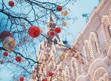 Χριστούγεννα Μόσχα στοκ εικόνες