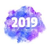 Χριστούγεννα, νέα ευχετήρια κάρτα έτους 2019 με τη μεγάλη ημερομηνία απεικόνιση αποθεμάτων