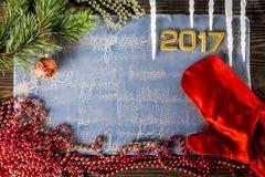 Χριστούγεννα νέο 2017 Στοκ Εικόνες