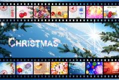 Χριστούγεννα οι διακοπές αγοριών βάζουν το χειμώνα χιονιού Εορτασμός Περίληψη Στοκ Εικόνες