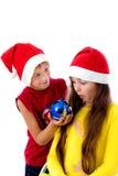 Χριστούγεννα παιδιών καλ&u Στοκ Φωτογραφίες