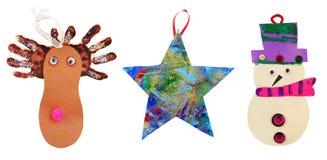 Χριστούγεννα παιδιών τέχνη&sig στοκ φωτογραφίες