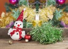 Χριστούγεννα, παιχνίδι χιονανθρώπων Στοκ Εικόνες