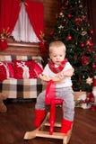 Χριστούγεννα παιδιών κον&tau Στοκ Φωτογραφία