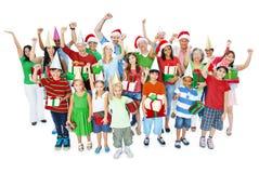 Χριστούγεννα που απομονώνονται οικογενειακά στο λευκό Στοκ φωτογραφία με δικαίωμα ελεύθερης χρήσης