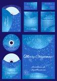 Χριστούγεννα που τίθενται διανυσματικά για την επιχείρηση Στοκ εικόνα με δικαίωμα ελεύθερης χρήσης