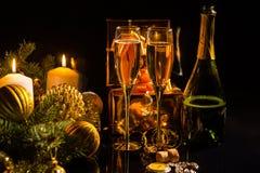 Χριστούγεννα πολυτέλειας και νέος εορτασμός έτους Στοκ Φωτογραφία