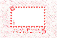 Χριστούγεννα πρώτα μου Στοκ Εικόνα