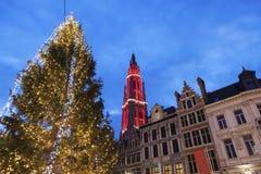 Χριστούγεννα σε Grote Markt στην Αμβέρσα Στοκ εικόνα με δικαίωμα ελεύθερης χρήσης