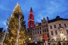 Χριστούγεννα σε Grote Markt στην Αμβέρσα Στοκ φωτογραφίες με δικαίωμα ελεύθερης χρήσης