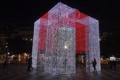 Χριστούγεννα σε Rossio Λισσαβώνα Πορτογαλία Στοκ φωτογραφίες με δικαίωμα ελεύθερης χρήσης