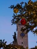 Χριστούγεννα σε Trento, μια γοητευτική παλαιά πόλη με τα φω'τα Χριστουγέννων Στοκ φωτογραφία με δικαίωμα ελεύθερης χρήσης