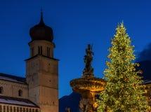 Χριστούγεννα σε Trento, μια γοητευτική παλαιά πόλη με τα φω'τα Χριστουγέννων Στοκ φωτογραφίες με δικαίωμα ελεύθερης χρήσης