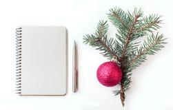 Χριστούγεννα σημειωματάριων Στοκ Εικόνες