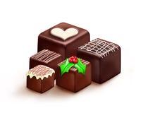 Χριστούγεννα σοκολατών Στοκ Εικόνα
