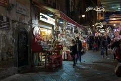 Χριστούγεννα στάβλων στη Νάπολη Στοκ Εικόνα