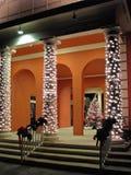 Χριστούγεννα στηλών οικοδόμησης Στοκ Εικόνες