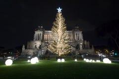 Χριστούγεννα στην πλατεία Venezia, Ρώμη Στοκ εικόνα με δικαίωμα ελεύθερης χρήσης