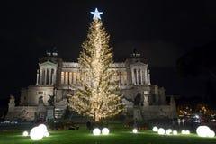 Χριστούγεννα στην πλατεία Venezia, Ρώμη Στοκ Φωτογραφίες