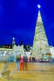 Χριστούγεννα στην πλατεία της Mary καλά, Ναζαρέτ Στοκ φωτογραφία με δικαίωμα ελεύθερης χρήσης