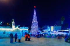 Χριστούγεννα 2016 στην πλατεία της Mary ` s καλά, Ναζαρέτ Στοκ φωτογραφία με δικαίωμα ελεύθερης χρήσης