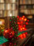 Χριστούγεννα στη βιβλιοθήκη Στοκ Εικόνες