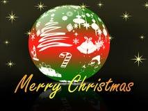 Χριστούγεννα στη σφαίρα κρυστάλλου διανυσματική απεικόνιση