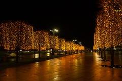Χριστούγεννα στις οδούς στοκ εικόνες