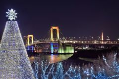 Χριστούγεννα στο Τόκιο στοκ εικόνα με δικαίωμα ελεύθερης χρήσης