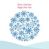 Χριστούγεννα σφαιρών λαμπρά Στοκ Εικόνες