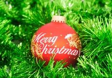 Χριστούγεννα σφαιρών εύθ&upsilo Στοκ Εικόνα