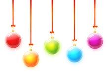 Χριστούγεννα σφαιρών ζωηρόχρωμα Στοκ Εικόνες