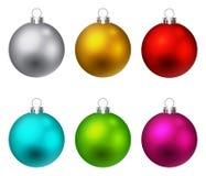Χριστούγεννα σφαιρών ζωηρό Στοκ εικόνα με δικαίωμα ελεύθερης χρήσης