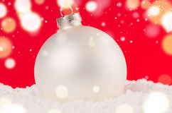Χριστούγεννα σφαιρών διακοσμητικά Στοκ φωτογραφία με δικαίωμα ελεύθερης χρήσης