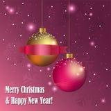 Χριστούγεννα σφαιρών δια&kap Στοκ Φωτογραφία