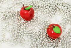 Χριστούγεννα σφαιρών μήλων Στοκ Εικόνες