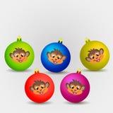 Χριστούγεννα σφαιρών που χρωματίζονται Στοκ Εικόνα