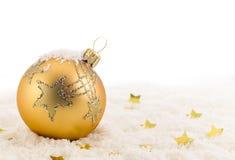 Χριστούγεννα σφαιρών χρυσά στοκ εικόνες με δικαίωμα ελεύθερης χρήσης